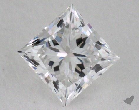 0.51 Carat E-VVS1 Ideal Cut Princess Diamond