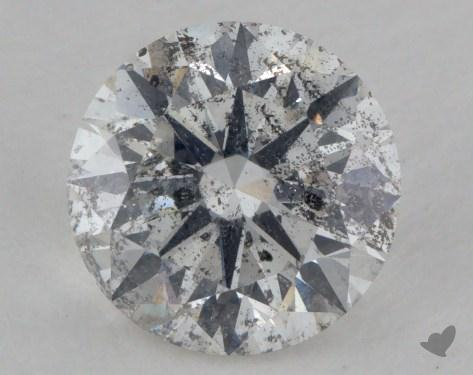 1.34 Carat F-I1 Very Good Cut Round Diamond