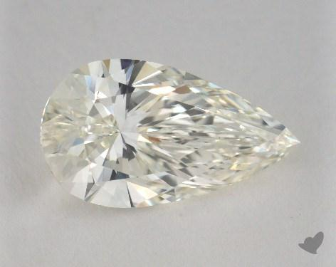 3.28 Carat J-VS1 Pear Shape Diamond