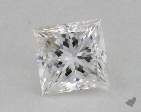 0.57 Carat E-VVS1 Ideal Cut Princess Diamond