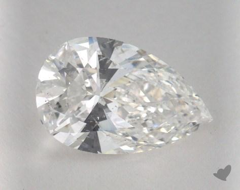 5.18 Carat F-SI2 Pear Cut Diamond 