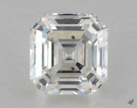 0.91 Carat H-SI1 Square Emerald Cut Diamond