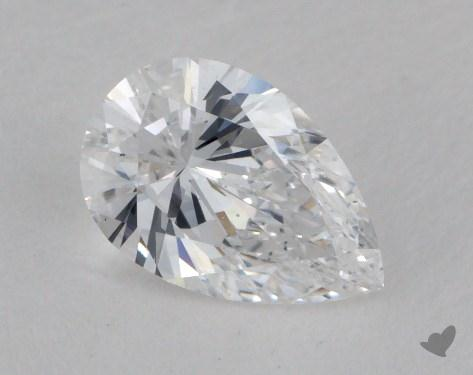 0.76 Carat D-SI1 Pear Shaped  Diamond