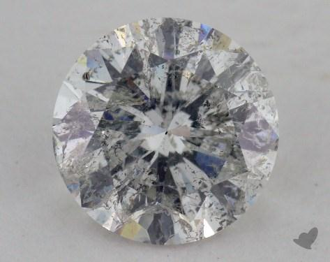 1.74 Carat G-I1 Very Good Cut Round Diamond