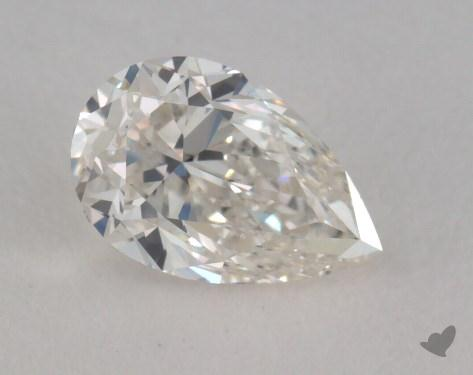 0.49 Carat G-VVS2 Pear Cut Diamond