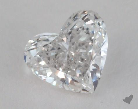 0.84 Carat F-SI2 Heart Shape Diamond