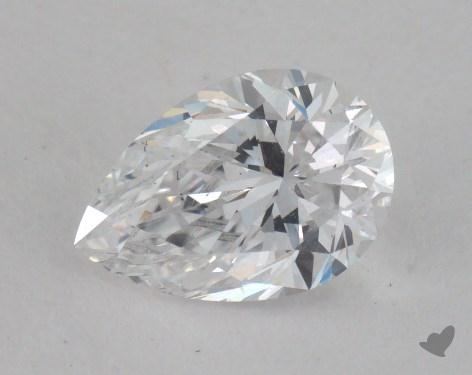 0.71 Carat D-SI1 Pear Cut Diamond