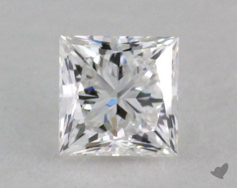 0.48 Carat E-VVS2 Ideal Cut Princess Diamond