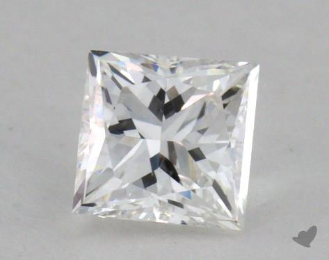 0.53 Carat F-VS2 Very Good Cut Princess Diamond