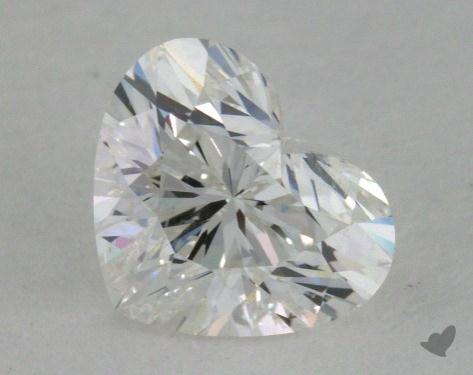 0.72 Carat G-SI2 Heart Cut Diamond