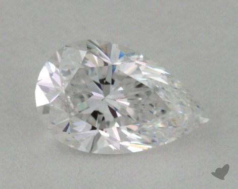 0.74 Carat D-VVS1 Pear Shaped  Diamond
