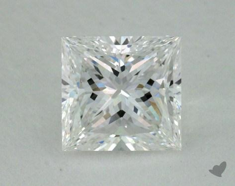 1.03 Carat E-VVS2 Ideal Cut Princess Diamond