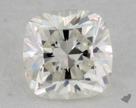 0.53 Carat fancy greenish yellow Cushion Cut Diamond