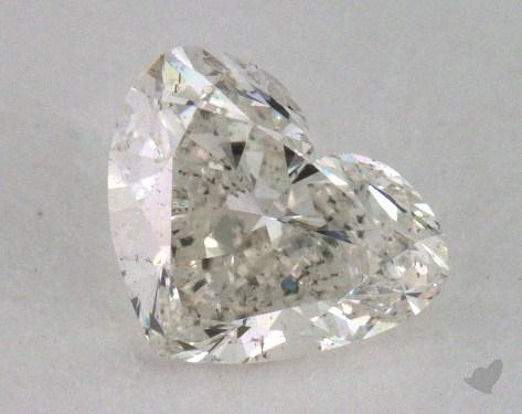0.53 Carat H-SI2 Heart Cut Diamond