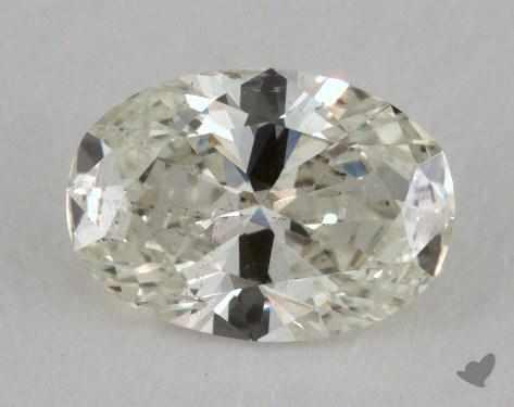 0.63 Carat D-I1 Oval Cut Diamond