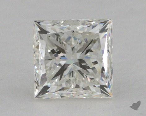 0.71 Carat E-SI2 Good Cut Princess Diamond