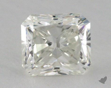 1.27 Carat fancy light greenish yellow Radiant Cut Diamond