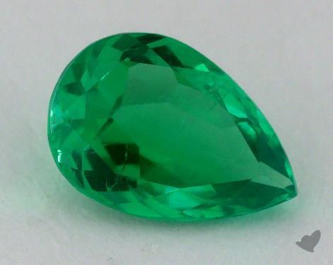 <b>1.72</b> carat Pear Natural Green Emerald