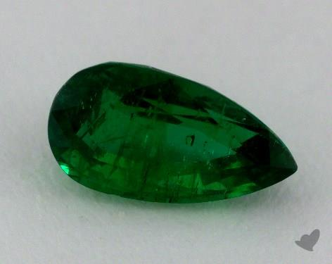 <b>1.21</b> carat Pear Natural Green Emerald
