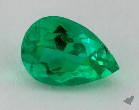 <b>1.22</b> carat Pear Natural Green Emerald