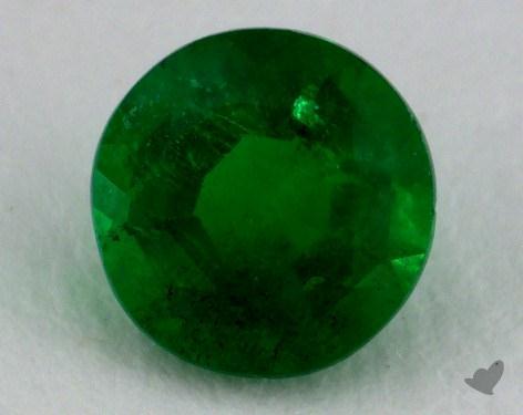 <b>0.62</b> carat Round Natural Green Emerald