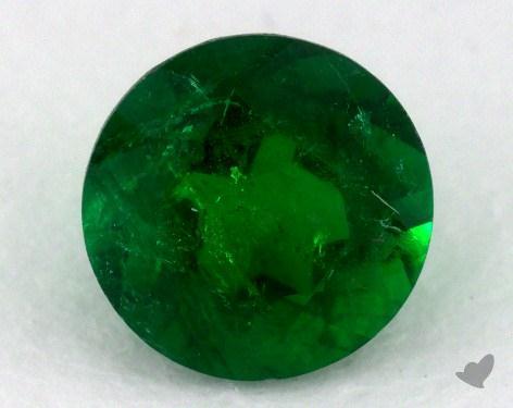 <b>0.85</b> carat Round Natural Green Emerald