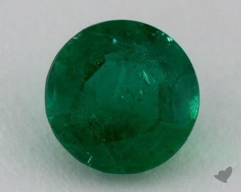 <b>1.30</b> carat Round Natural Green Emerald