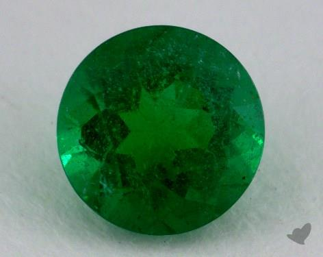 <b>1.55</b> carat Round Natural Green Emerald