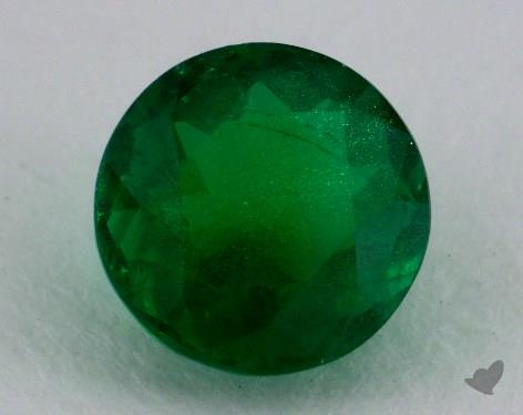<b>1.65</b> carat Round Natural Green Emerald