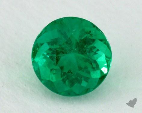 <b>1.54</b> carat Round Natural Green Emerald