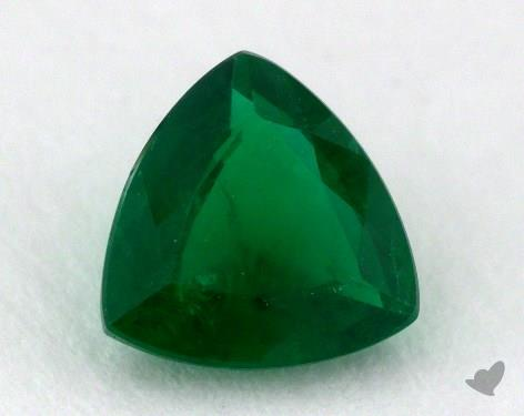 <b>0.85</b> carat Trillion Natural Green Emerald
