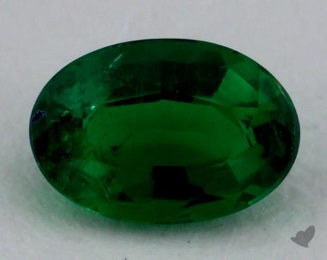 <b>0.56</b> carat Oval Natural Green Emerald