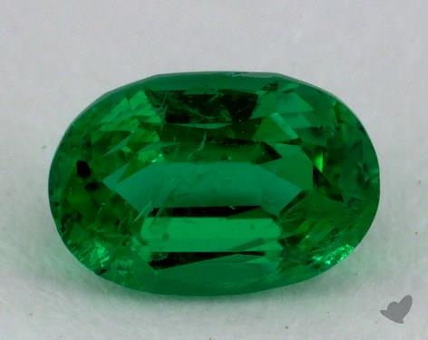 <b>0.86</b> carat Oval Natural Green Emerald