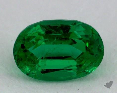 <b>0.86</b> carat Oval Natural Green Emerald