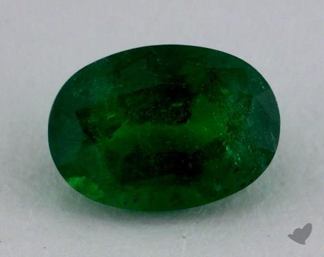 <b>1.10</b> carat Oval Natural Green Emerald