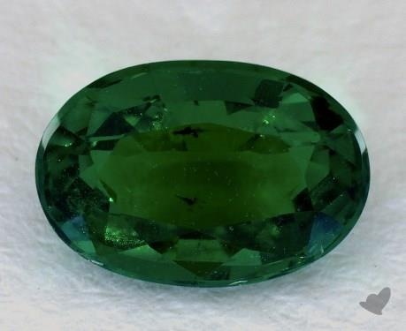 <b>1.24</b> carat Oval Natural Green Emerald