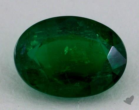 <b>1.54</b> carat Oval Natural Green Emerald