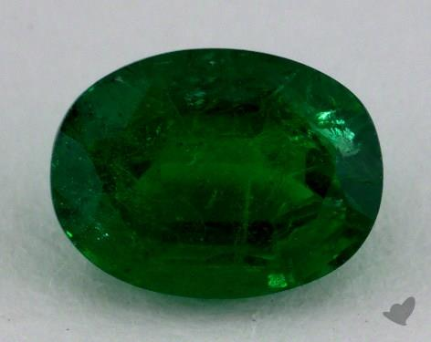 <b>1.58</b> carat Oval Natural Green Emerald