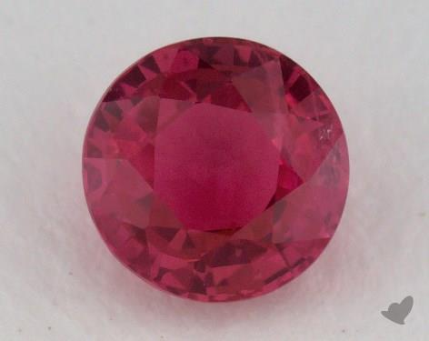 <b>1.14</b> carat Round Natural Ruby
