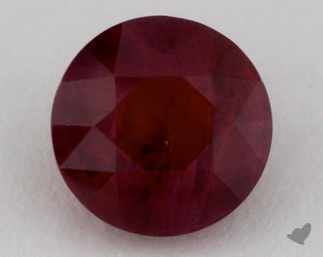 <b>2.98</b> carat Round Natural Ruby