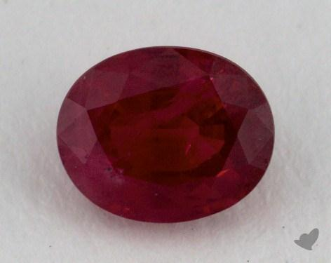 <b>0.82</b> carat Oval Natural Ruby