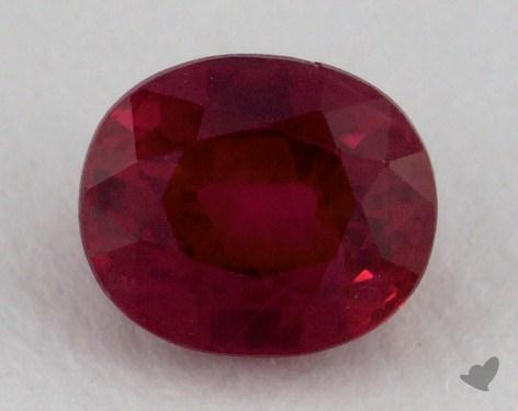 <b>0.84</b> carat Oval Natural Ruby