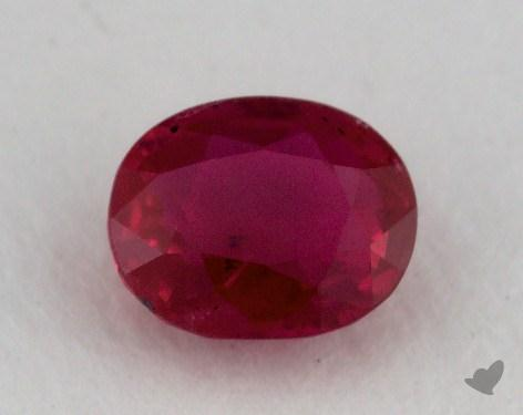 <b>0.86</b> carat Oval Natural Ruby
