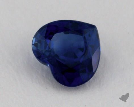 <b>0.76</b> carat Heart Natural Blue Sapphire