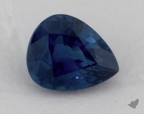 <b>0.92</b> carat Pear Natural Blue Sapphire