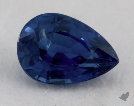 <b>0.95</b> carat Pear Natural Blue Sapphire
