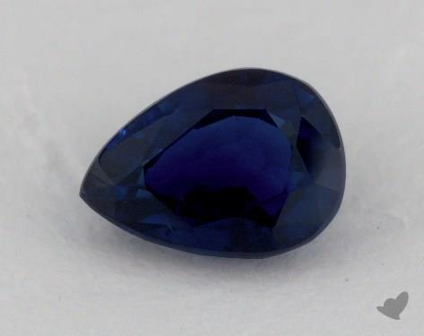 <b>1.11</b> carat Pear Natural Blue Sapphire