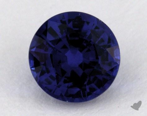 <b>1.05</b> carat Round Natural Blue Sapphire