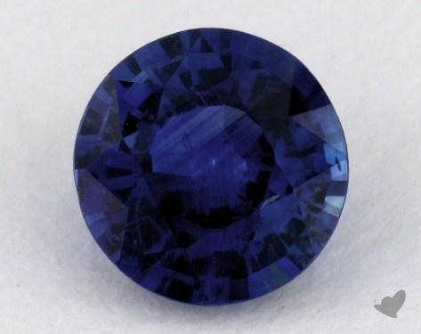<b>1.05</b> carat Round Natural Blue Sapphire