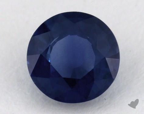 <b>1.06</b> carat Round Natural Blue Sapphire